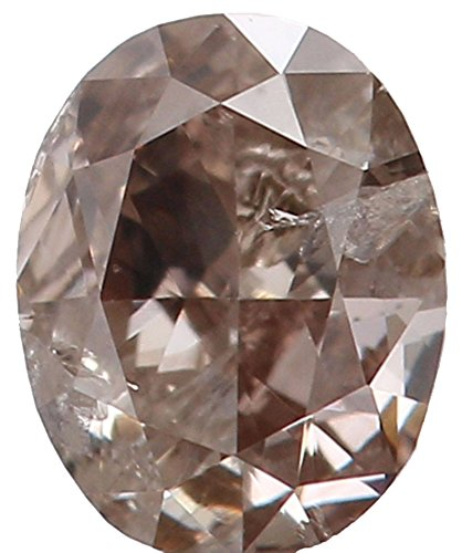 Diamonds Loose Oval Si1 (Natural Loose Diamond Oval Brown Color SI1 Clarity 3.90X2.90X1.80 MM 0.15 Ct S19)