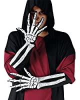 Fun World - Skeleton Glove And Wrist Bone Gloves (Adult)