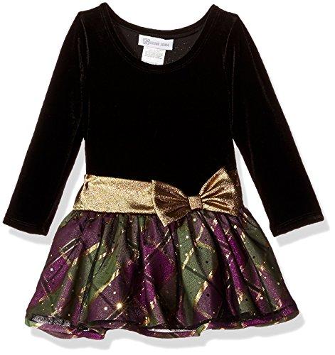 Bonnie Jean Toddler Girls' Hipster Dresses, Purple/Green Plaid, 4T - Bonnie Jean Velvet Skirt
