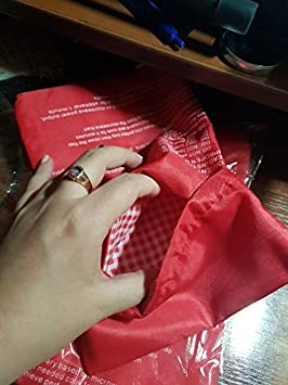 Amazon.com: 1 lavable bolsa de cocina color rojo Baked ...
