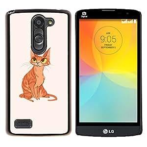 "Be-Star Único Patrón Plástico Duro Fundas Cover Cubre Hard Case Cover Para LG L Prime / L Prime Dual Chip D337 ( Gato del jengibre amarillo naranja arte Dibujo Ojos"" )"