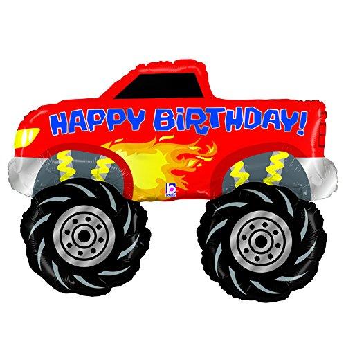 Single Source Party Supplies Happy Birthday Monster Truck Jumbo Foil Balloon (Monster Truck Tires Ofna)