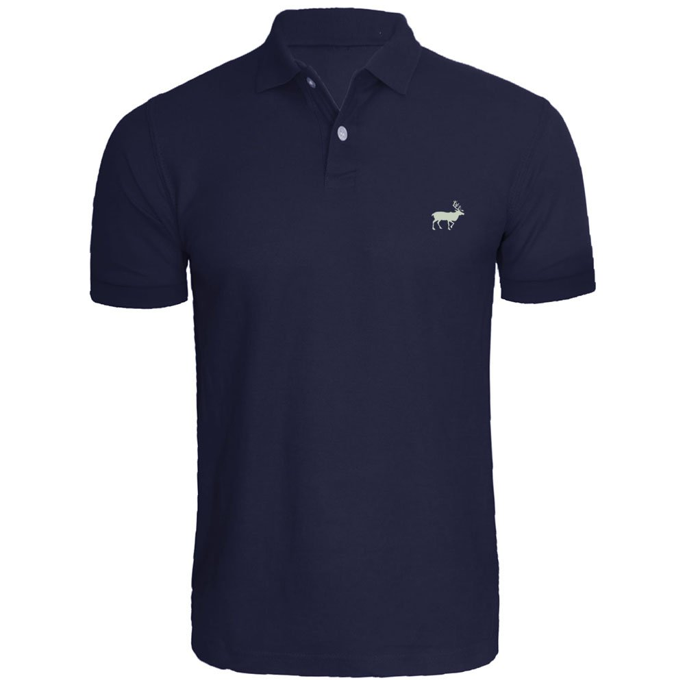 Loo Show Mens Moose Animal Embroidered Polo Shirts Men Shirts