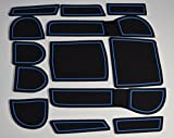 KINMEI Subaru Impreza IMPREZA C-type blue interior door pocket mat drink holder slip non-slip storage space protection rubber mats SUBARUez-b