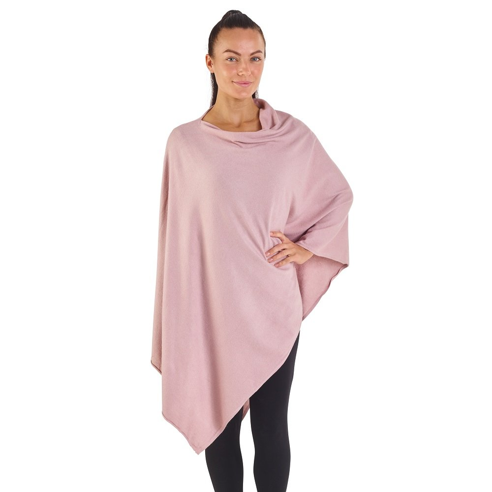 Soft Feel All Year Around Off Sholder Poncho (Beige Pink)
