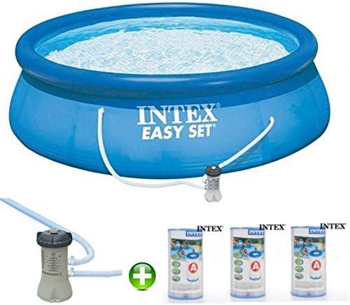 Intex Piscina 366 Cm * 0, 76 con Depurador y 03 filtros, : Amazon ...