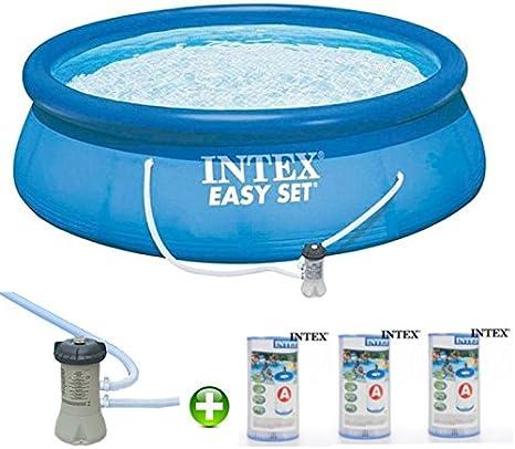 Intex Piscina 366 Cm * 0, 76 con Depurador y 03 filtros, : Amazon.es: Jardín