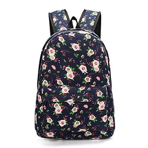 Canvas School Backpack School Bags For Girls Fashion Women Printing Backpack Travel Bags 601