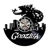 Godzilla Art Vinyl Wall Clock Gift Room Modern Home Record Vintage Decoration For Sale