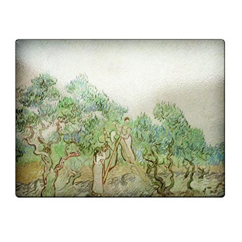 Vincent Van Gogh The Olive Orchard - Glass Cutting Board - Orchard Glass Cutting Board