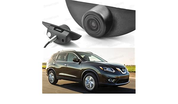 Wide Degree CCD Car Front View Camera Logo Embedded for Nissan Qashqai 2014-2017