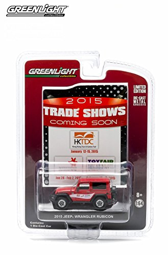 - 2015 JEEP WRANGLER RUBICON (Limited Edition 2015 Trade Shows Exclusive) 1:64 Scale Greenlight Collectibles Die-Cast Vehicle