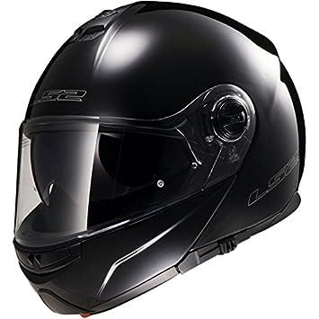 LS2 FF325 Cascos modulares de Moto DVS Motocicleta Bicicleta - Negro XXS(51-52cm