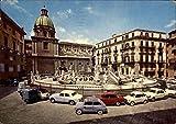 Pretoria Fountain Palermo, Italy Original Vintage Postcard