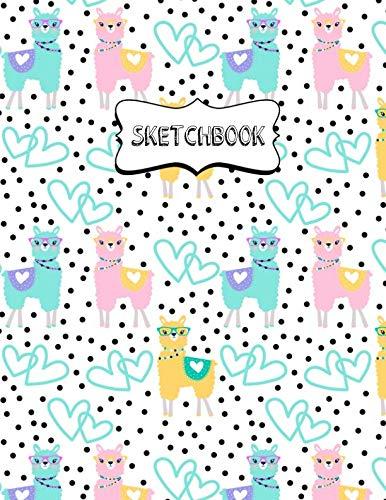Sketchbook: Blank Sketch Book Workbook Journal for Drawing, Sketching or Doodling for Kids Llama Pattern by Nifty Prints