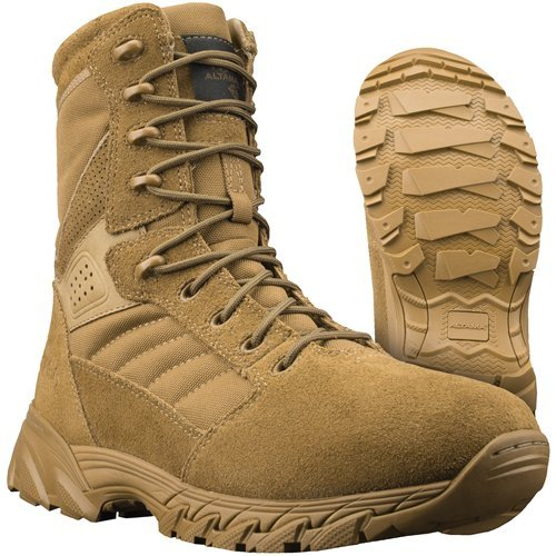 Altama Mens Foxhound SR 8in Leather Boot,Size 9.5,Coyote