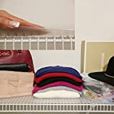 Closet Shelf Liner, Wire Shelf Liner for Closet and Pantry (4 Pack) 12x48, Clear
