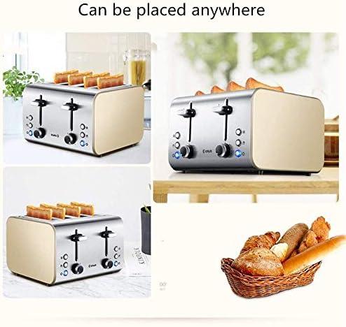 Multipurpose Toaster 2 Slice Toaster 6 Browning Stages Mini Size Ontdooien Verwarmen Annuleren Automatische uitschakeling