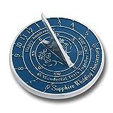 Sapphire Wedding Anniversary Sundial Gift