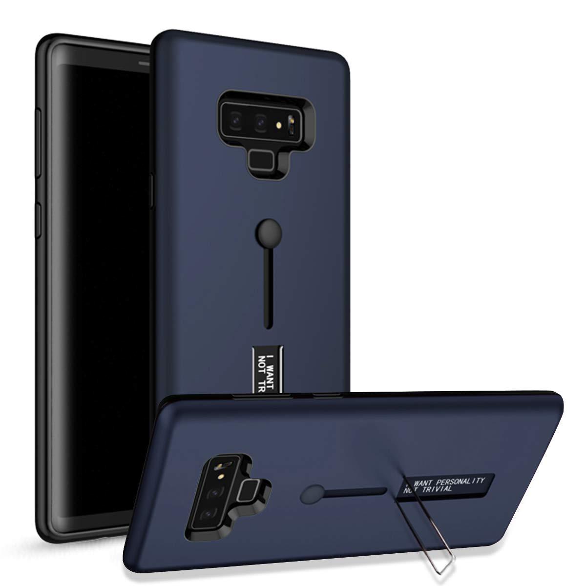 WIWJ Samsung Galaxy Note 9 H/ülle Case PC Backcover+TPU Silikon Mit Halterung und Ring Funktion Handy Schutzh/ülle Schutz Cover Schale Handyh/ülle f/ür Samsung Galaxy Note 9-Schwarz