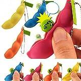 Hotsale Extrusion Pea Bean Soybean Edamame Stress Relieve Toy Keychain Keyring