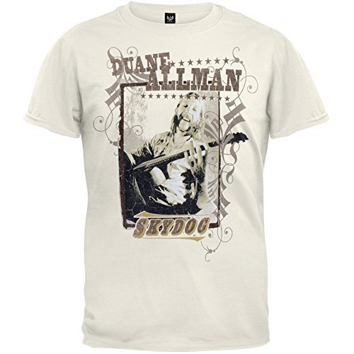 Allman Brothers - Mens Skydog T-shirt Small Off-white
