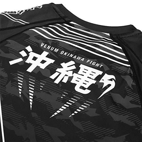 Venum Okinawa 2.0 Rashguard - Long Sleeves - Black/White - XL (Best Boxing Fights 2019)