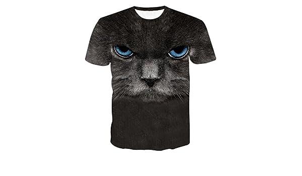 Camiseta Hombres, ❤ Manadlian Camiseta de hombres Impresión 3D Manga corta de verano Deer Camisetas Parte superior Blusa Camiseta (CN:S, ...
