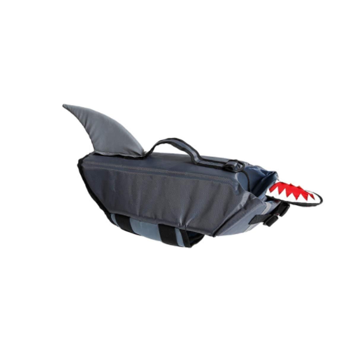 Black MUniversal Swimming Life Jacket, Pet Swimming Vest Clothing (color   Black, Size   M)