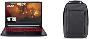 """Acer Nitro 5 Gaming Laptop, AMD Ryzen 5 4600H Hexa-Core Processor, NVIDIA GeForce GTX 1650 Ti, 15.6"""" Full HD IPS Display, 8GB DDR4, 256GB with Acer Travel Laptop Backpack"""