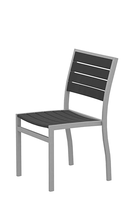 Amazon Com Polywood A100fasgy Euro Dining Side Chair Textured