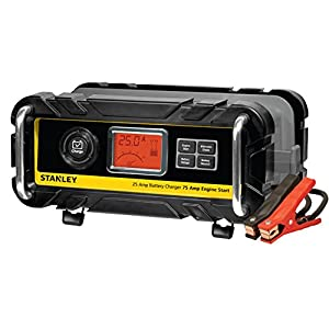 STANLEY BC25BS 25 Amp Bench Battery Charger with 75 Amp Engine Start and Alternator Check