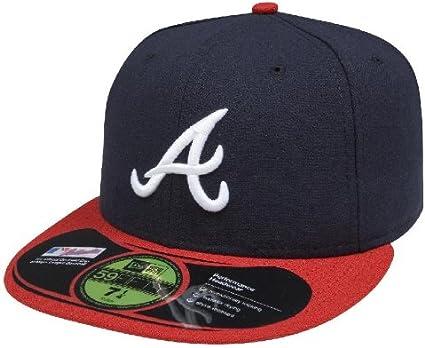 AUTHENTIC Atlanta Braves navy New Era 59Fifty Cap