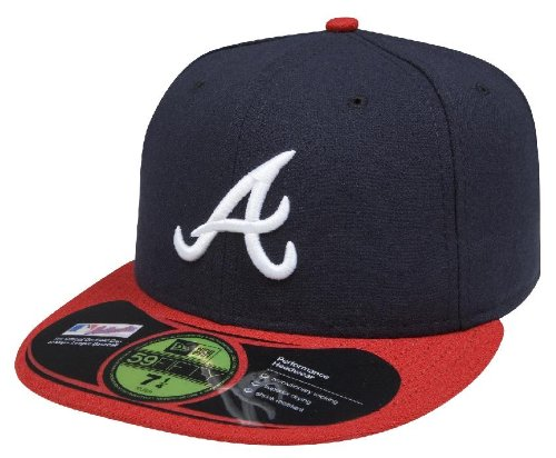New Era Men Authentic On-Field Cap, Atlanta Braves, 7 1/2