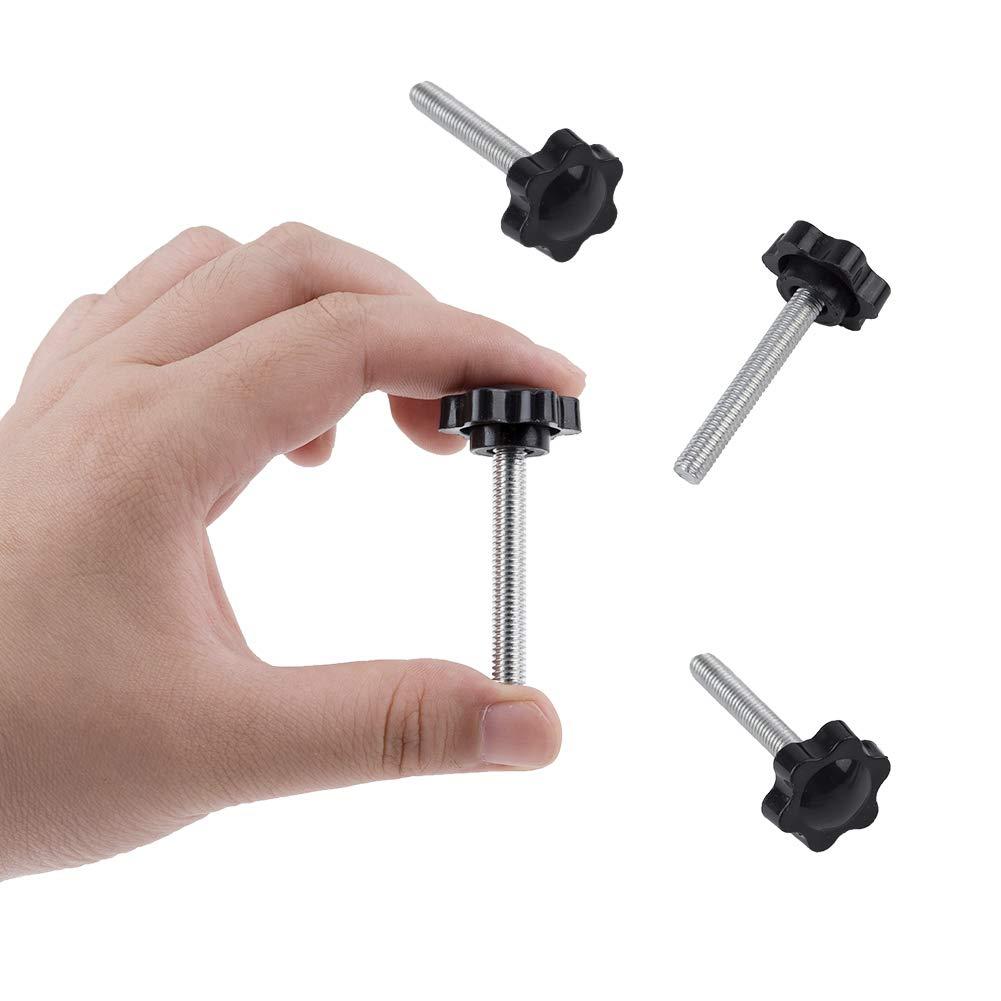 M6//M8//M10x25mm Star Head Knob Tightening Screw Thumbscrew INCREWAY 24pcs Thumb Screw