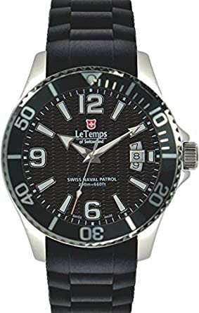 Le Temps of Switzerland - SWISS NAVAL PATROL - schwarz Ø 42 mm