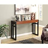 Convenience Concepts Monterey Console Table, Black/Cherry