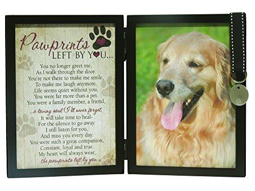 Pet Memorial (Pawprints Memorial Pet Tag Frame - Pawprints Left By You)