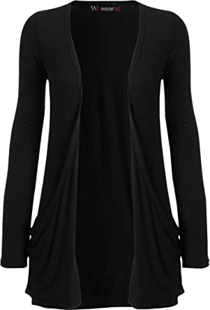 Amazon.com: WearAll Women's Long Sleeve Pocket Cardigan: Clothing