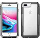 iPhone 8 Plus Case | Pelican Voyager Case - fits iPhone 6s/7/8 Plus (Clear/Grey)