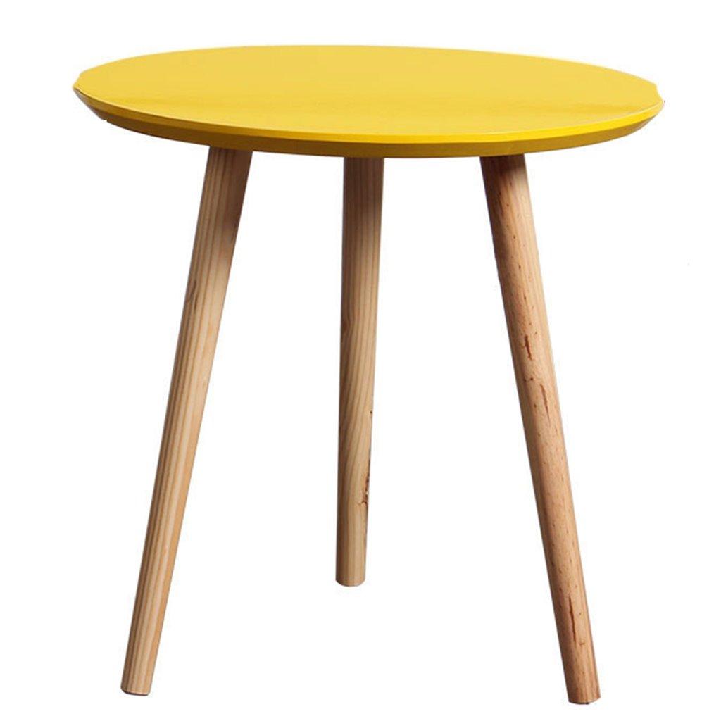 Bon Amazon.com: Coffee Tables Table Small Round Table Mini Side Corner A Few  Round Small Yellow: Kitchen U0026 Dining