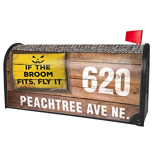 - NEONBLOND Custom Mailbox Cover If The Broom Fits, Fly It Halloween Jack-O'-Lantern