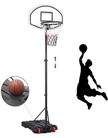 Iunnds Panier de basket-ball r/églable et support pour ext/érieur ou jardin 111,8/cm