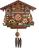 River City Clocks One Day Chalet Style Musical Cuckoo Clock - Boy and Girl Turn Heads to Kiss - 11 Inches Tall - Model # M454-11