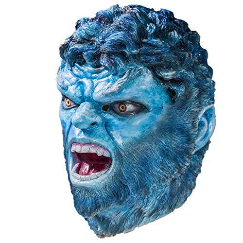 Dark Phoenix Beast Cosplay Mask for Adult Blue]()