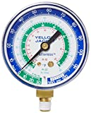 Yellow Jacket 49014 2-1/2'' Gauge (degrees F), Blue Compound, 30''-0-120 (Retard Protection to 350 psi) psi, R-12/22/134A