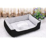 NEO Home Short Plush Self-Warming Lounge Sleeper Peaceful Dog Bed Cat Bed, 100% Machine Washable and Easy Clean,6 Sizes Available.