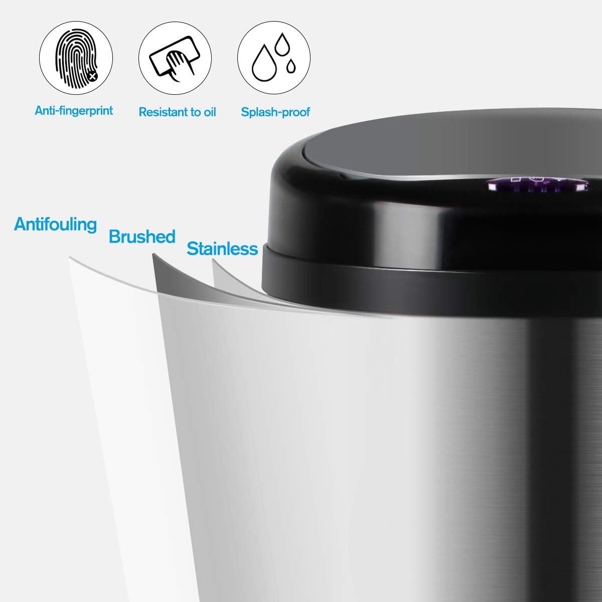 30L Display4top Cubo de Basura Sensor Acero Inoxidable Cocina Cuarto de ba/ño Desodorante Bote de Basura