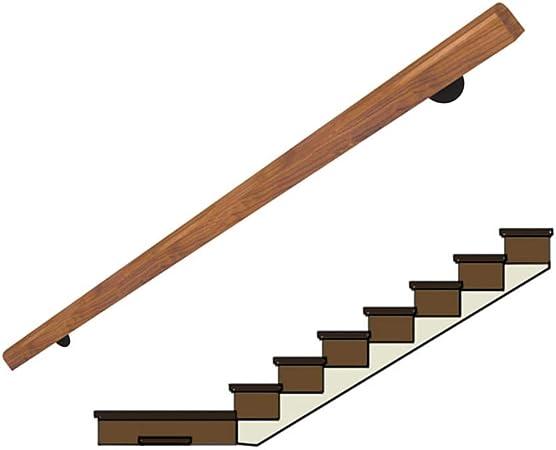 YIKE-Pasamanos Barandilla de Escalera de Madera Maciza 30cm-300cm, Pasillo de la barandilla contra la Pared Manija de Anciano Edificio de Villa Loft Niños Barandilla de Pino: Amazon.es: Hogar