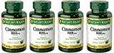 Nature's Bounty Cinnamon 1000mg, 100 Capsules (Pack of 4)